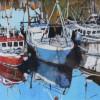Fishing boats, low tide